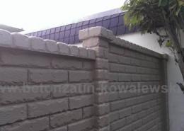BETONZAUN KOWALEWSKI - Zaunanlage Doppelmotivplatte Altstein in Basalt 11