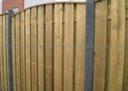 BETONZAUN KOWALEWSKI - Premium Holz Kombi gebogen/ Abdeckung