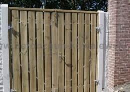BETONZAUN KOWALEWSKI -Holz Doppeltoranlage 2 Flügelig