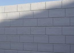 BETONZAUN KOWALEWSKI - Betonzaun Kalkstein, einseitig in Weiß