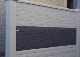 BETONZAEUNE KOWALEWSKI - Granit Premium, Bruchstein Premium und Fels Premium mit Oberlatte und Pfostenkappe