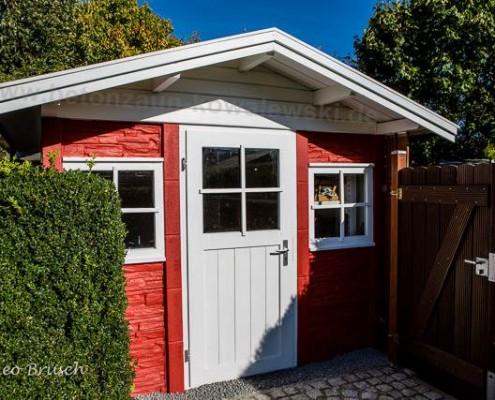 BETONZAUN KOWALEWSKI - Gartenhaus Bausatz A in RAL 3020 und weiß