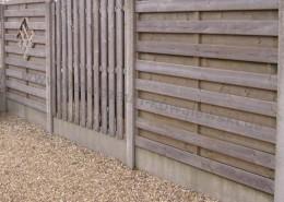 BETONZAUN KOWALEWSKI -Beton-Holz-Kombi, verschiedene Muster