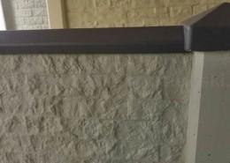 BETONZAUN KOWALEWSKI - Betonzaun Granit Premium mit Oberlatte