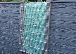 BETONZAUN KOWALEWSKI - Betonzaun Nizza in Kombination mit Glasfüllung