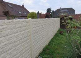 BETONZAUN KOWALEWSKI - Betonzaun Standard Rockstone in weiss