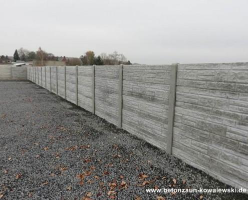 BETONZAUN KOWALEWSKI - Blockstone, einseitig, unbehandelt