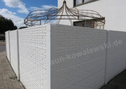 BETONZAUN KOWALEWSKI - Betonzaun Klinker, doppelseitig in Weiß