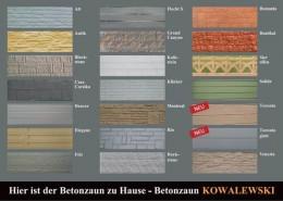 BETONZAEUNE KOWALEWSKI - Motivflyer Standard 2017
