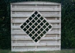 BETONZAUN KOWALEWSKI - Beton-Holz-Kombi Element mit Raute