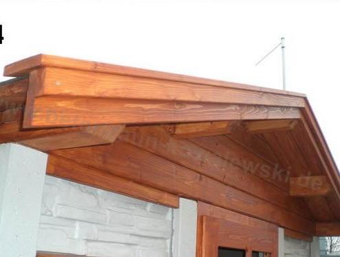 BETONZAUN KOWALEWSKI - Dachstuhl, lasiert, Gartenhaus Bausatz A