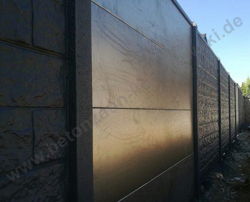 BETONZAUN KOWALEWSKI - Standard Grand Canyon in RAL 7016 mit Aluminiumplatten
